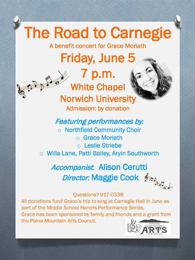 Road to Carnegie Concert Poster
